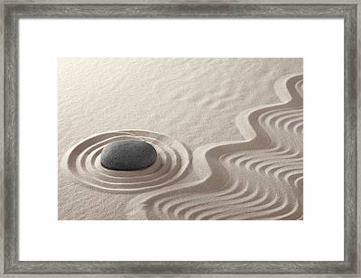 Rock Garden Zen Buddhism Framed Print