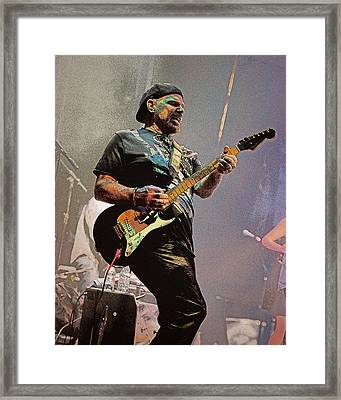 Rock Guitar Player Framed Print
