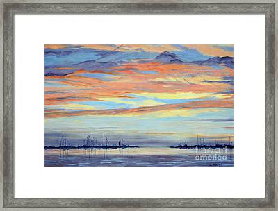 Rock Hall Sunset Framed Print by Cindy Roesinger