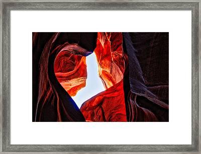 Rock Heart Framed Print