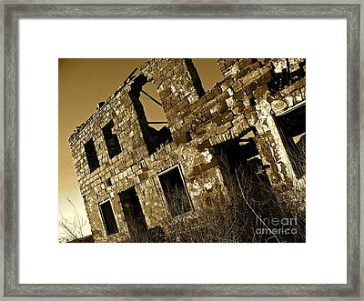 Rock House Ruins Framed Print by Chuck Taylor