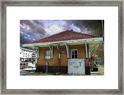 Rock Island Depot Iowa City Framed Print by Jame Hayes