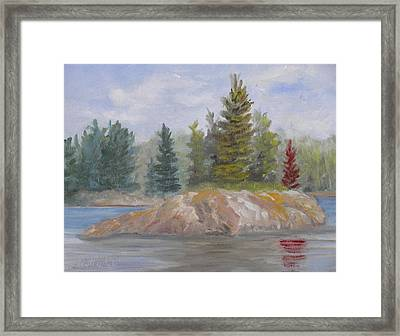 Rock Island Framed Print