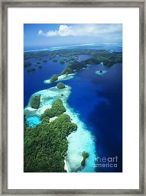 Rock Islands Aerial Framed Print