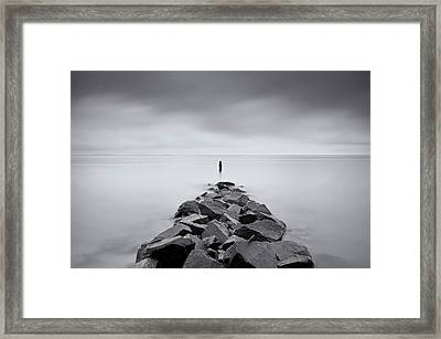 Rock Jetty At The Chesapeake Bay Framed Print by MariAnne MacGregor