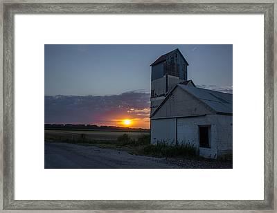 Rock Ks Sunset Framed Print by Lori Root