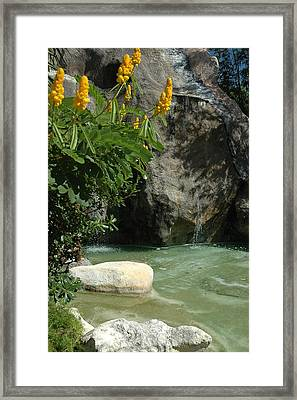 Rock Lagoon Framed Print by Lori Mellen-Pagliaro
