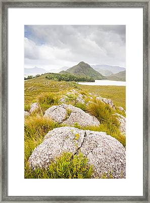 Rock Landscape Off Lake Plimsoll Near Queenstown Framed Print by Jorgo Photography - Wall Art Gallery