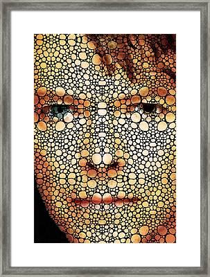 Rock Legend - David Bowie Tribute Framed Print