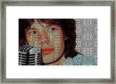 Rock Legend - Mick Jagger Tribute Framed Print by Sharon Cummings