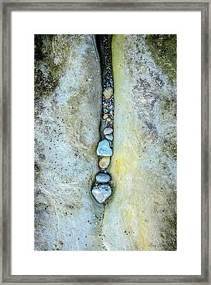 Rock Line Framed Print
