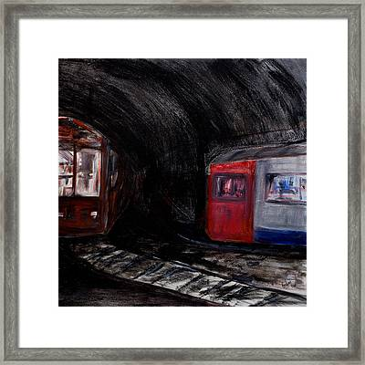 Rock Me London Underground Framed Print by Emma Kinani