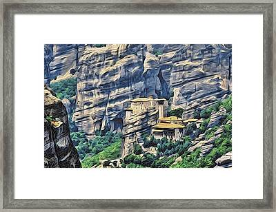 Rock Monastery Framed Print