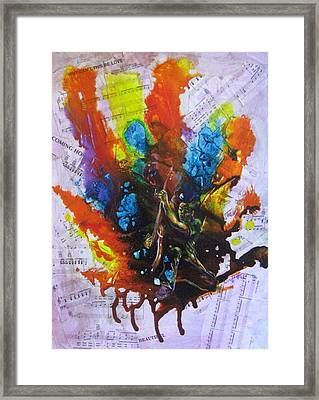 Rock N Art Framed Print by Sofanya White