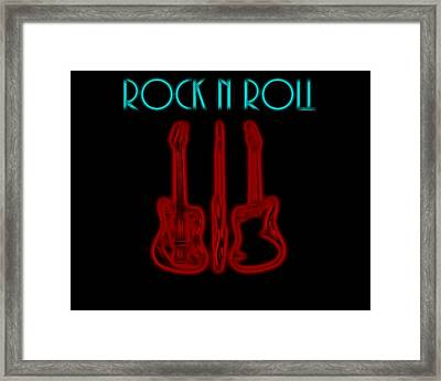 Rock N Roll Electric Poster Framed Print