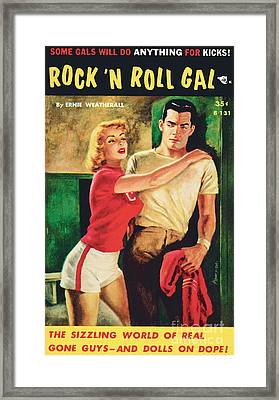 Rock 'n Roll Gal Framed Print