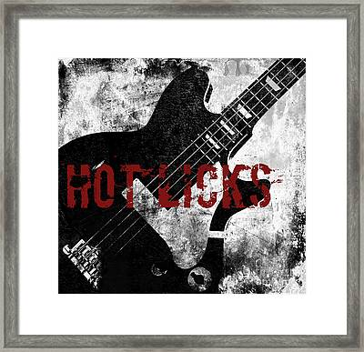 Rock N Roll Guitar Framed Print