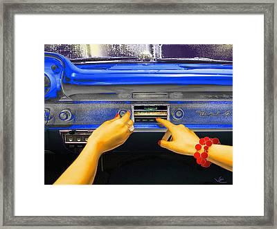 Rock N Roll Radio Framed Print