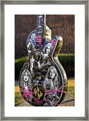 Rock N Roll...girls Rule Framed Print