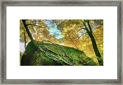 Framed Print featuring the photograph Rock Of Ages by Jeff Folger