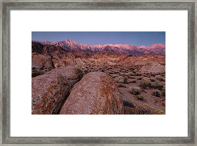 Framed Print featuring the photograph Rock Of Ages by Stuart Gordon
