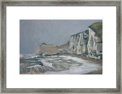 Rock Of Amont Etretat After The Rain Framed Print