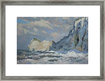 Rock Of Amont Etretat Framed Print