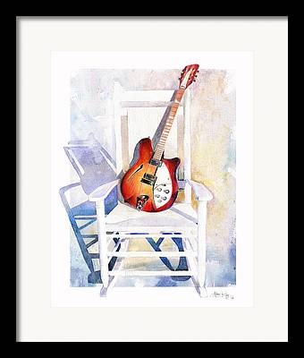 Rocking Chairs Paintings Framed Prints
