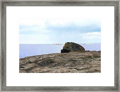 Rock On Black Rocks Framed Print by Kendall Tabor