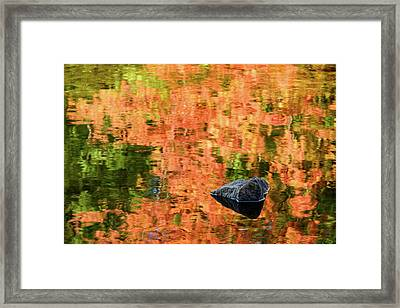 Rock On Reflection Framed Print by Michael Blanchette