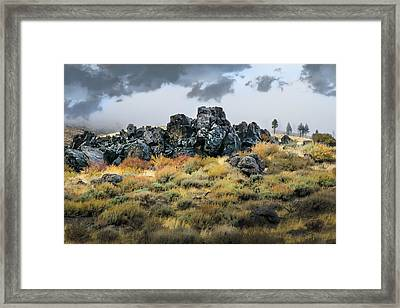 Framed Print featuring the photograph Rock Outcrop by Frank Wilson