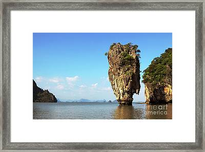 Rock Outcrops In Thailand Framed Print