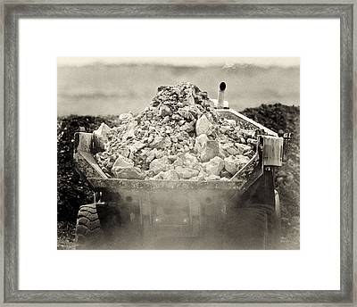 Rock Framed Print by Patrick M Lynch