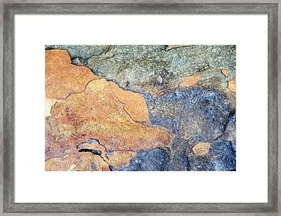 Framed Print featuring the photograph Rock Pattern by Christina Rollo