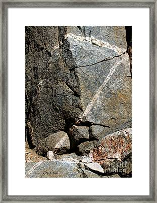 Rock Patterns-signed-#9753 Framed Print