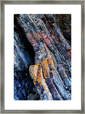 Framed Print featuring the photograph Rock Pattern Sc01 by Werner Padarin