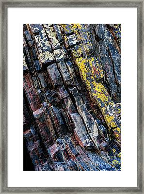 Framed Print featuring the photograph Rock Pattern Sc02 by Werner Padarin