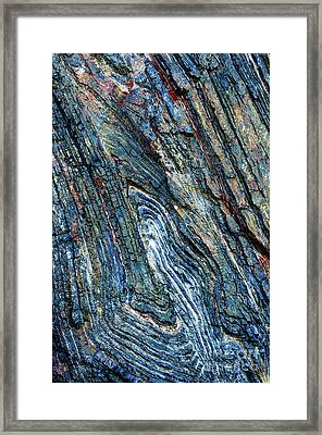 Framed Print featuring the photograph Rock Pattern Sc03 by Werner Padarin