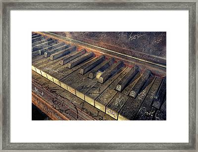 Rock Piano Fantasy Framed Print