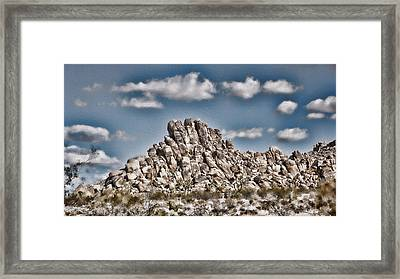 Rock Pile - Painterly Framed Print by Stephen Stookey