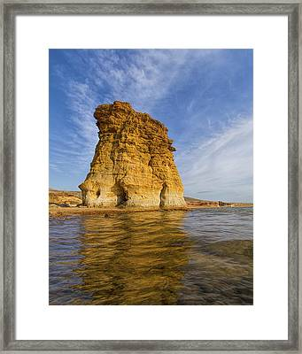Rock Pillar At Wilson Lake Framed Print