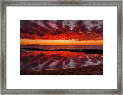 Rock Pool Reflections Framed Print