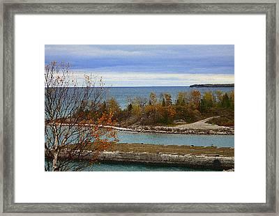 Rock Port In Alpena Michigan Framed Print
