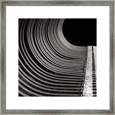 Framed Print featuring the photograph Rock Rake by Susan Capuano