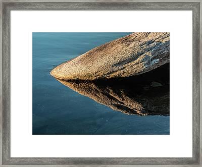 Rock Reflection Framed Print