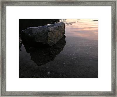 Rock Reflections Framed Print