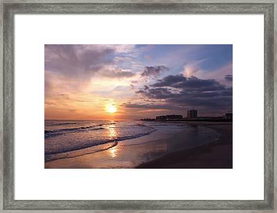 Rock Rock Rockaway Beach Framed Print by Rita Tortorelli