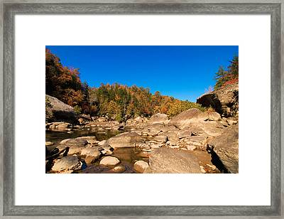 Rock Scape Framed Print by William Furguson