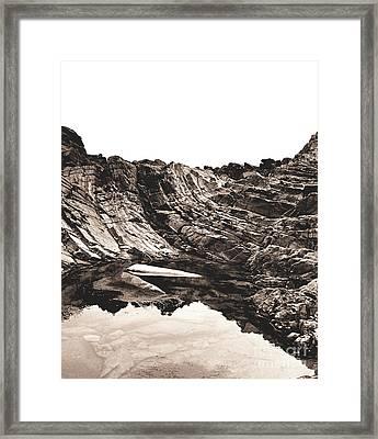 Rock - Sepia Detail Framed Print