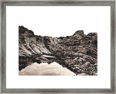 Rock - Sepia Framed Print